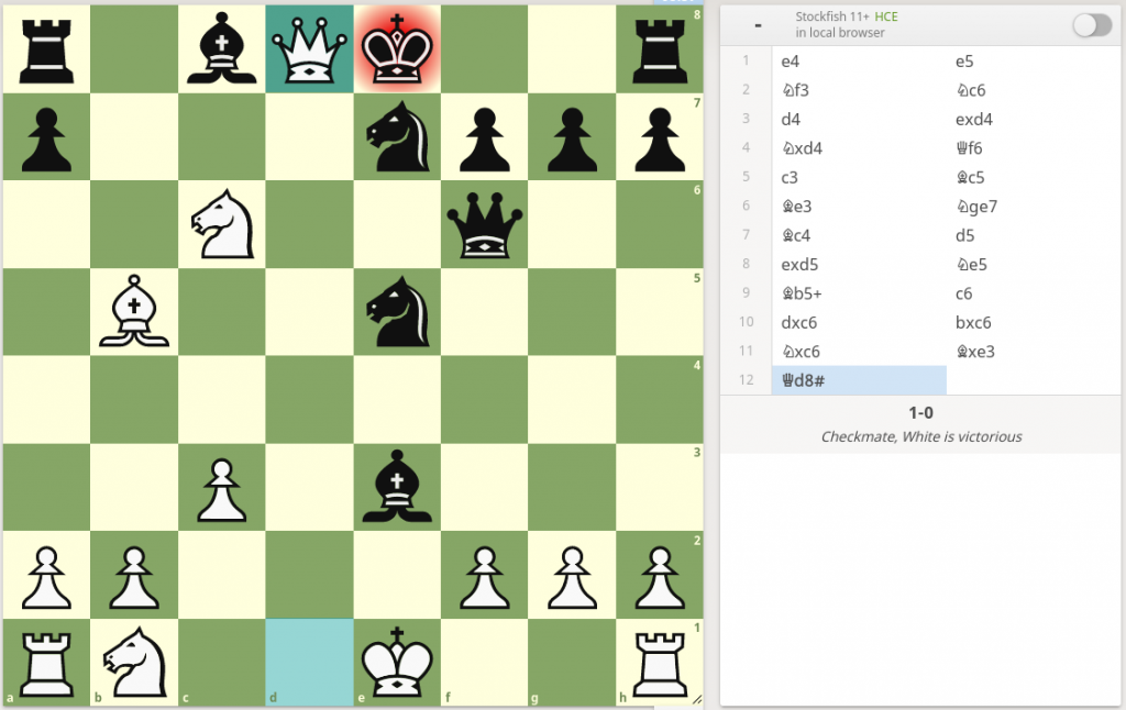 The winning position from the game I discussed.