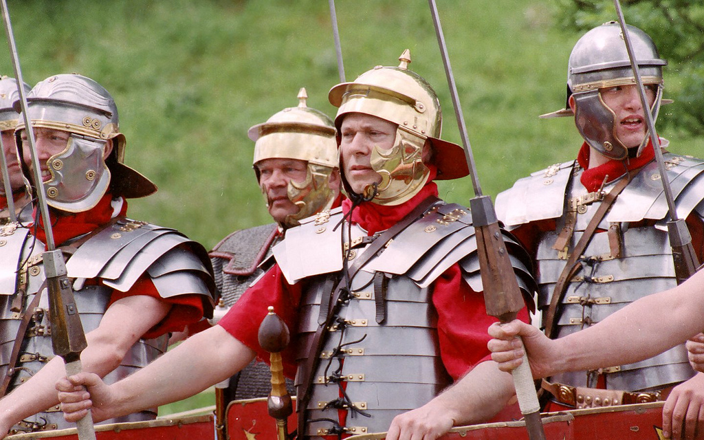 Roman soldier Re-enactors