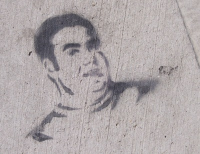 Sidewalk stencil