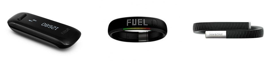 Fitbit, Nike Fuelband, Jawbone Up